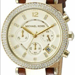 Michael Kors Women's Chronograph Brown/Gold Watch